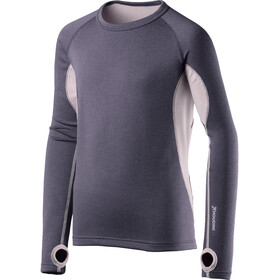Houdini Jr Alpha Crew Shirt Greystone Purple